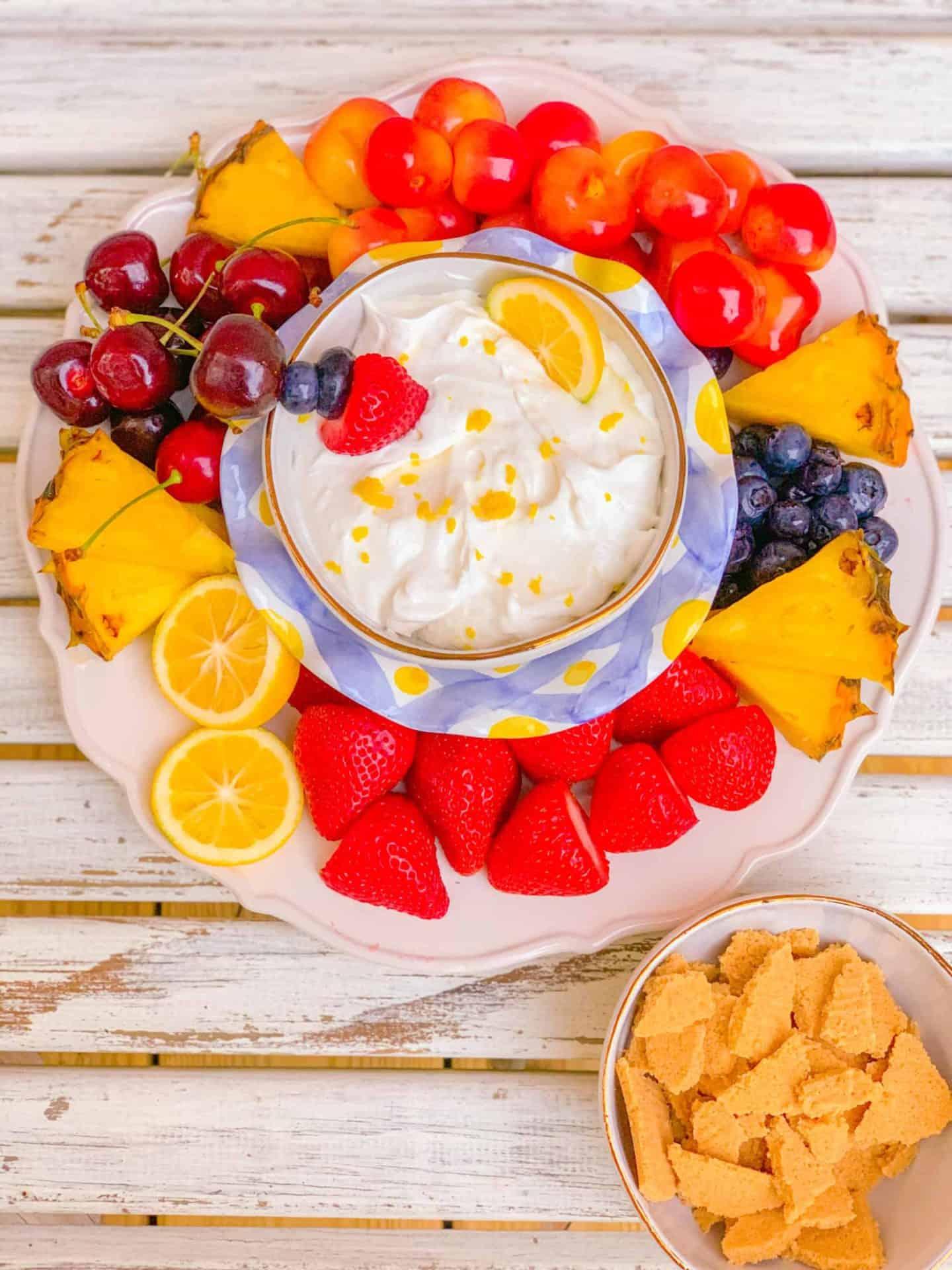 Fruit Platter & Homemade Lemon Fruit Dip