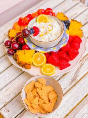 Fruit Platter Lemon Fruit Dip