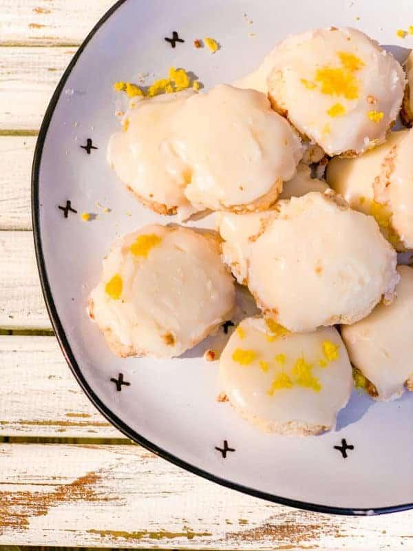 Plate Of Lemon Meltaway Cookies