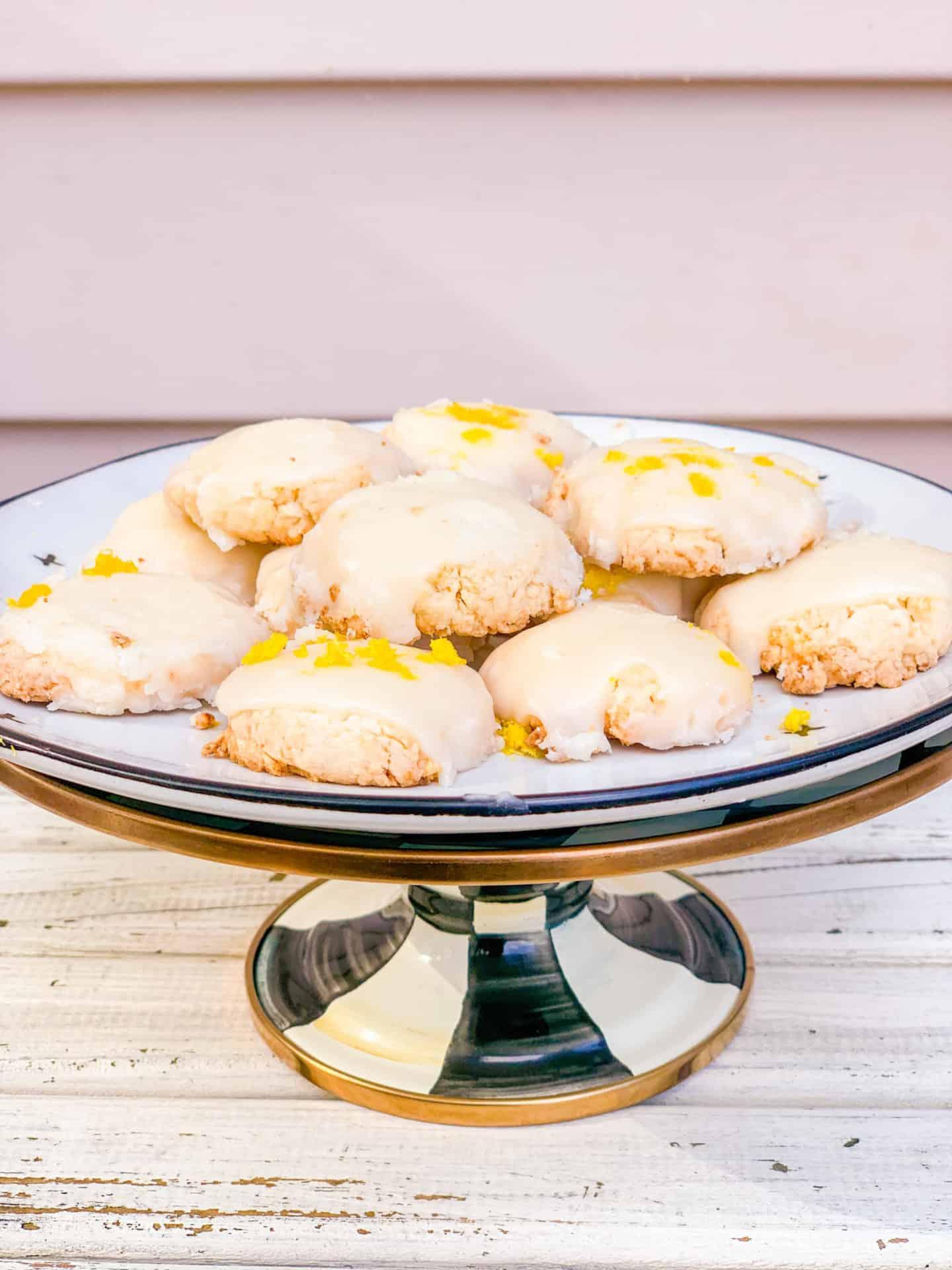 Powdered Sugar Lemon Meltaway Cookies Recipe