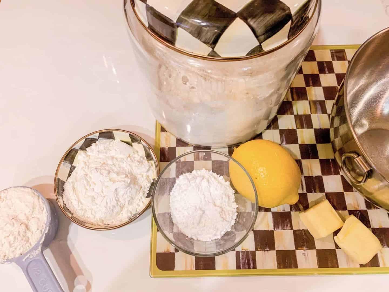 Lemon Meltaways Ingredients Powdered Sugar & Lemon