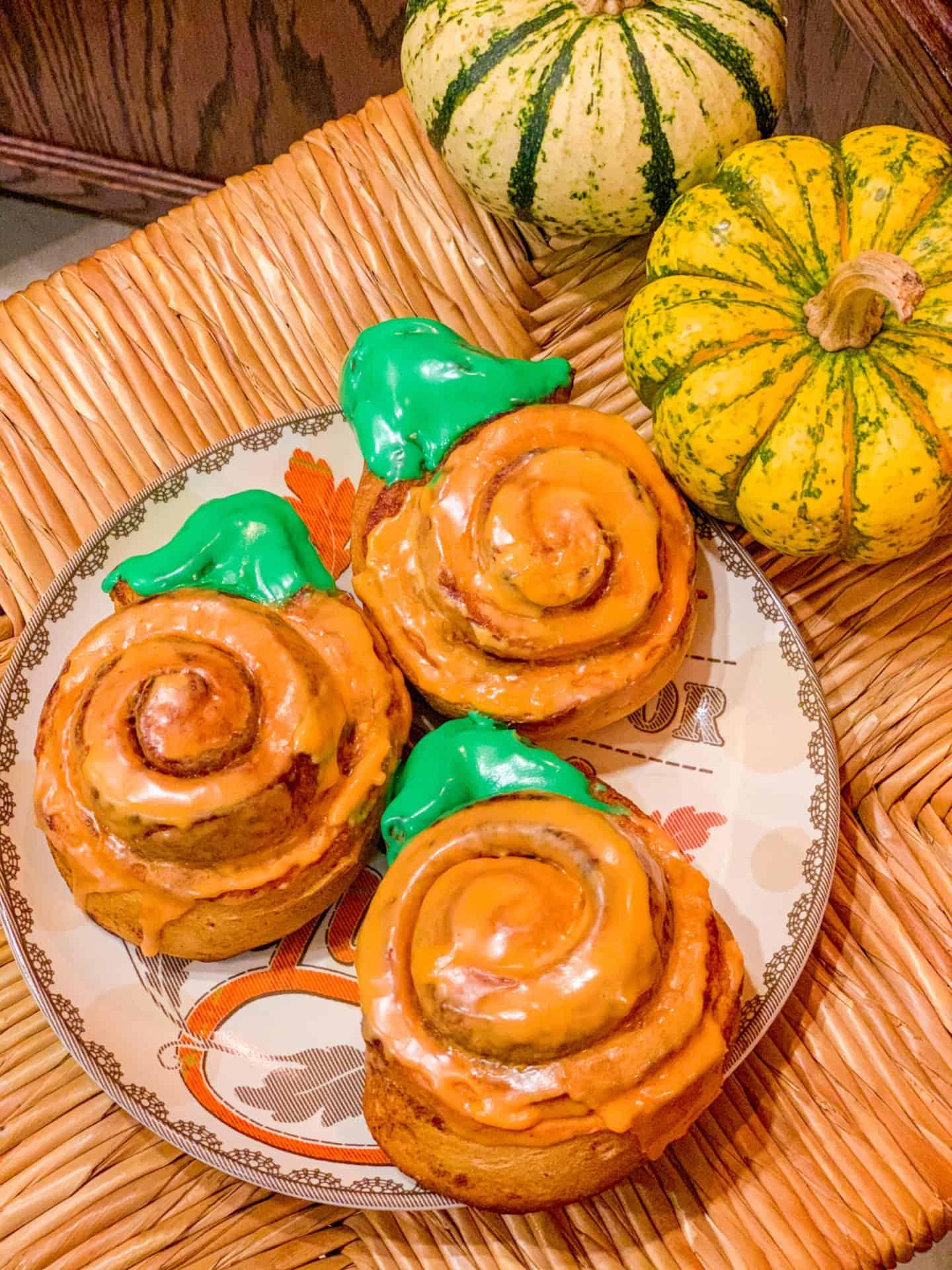 Pillsbury Grands pumpkin cinnamon rolls