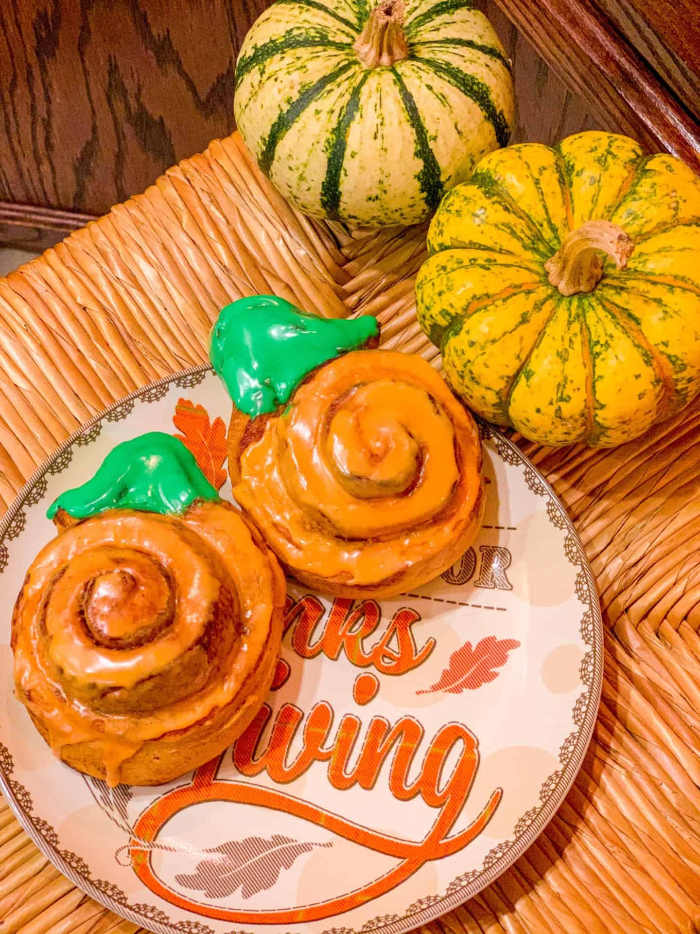 pumpkin shaped cinnamon rolls Pillsbury