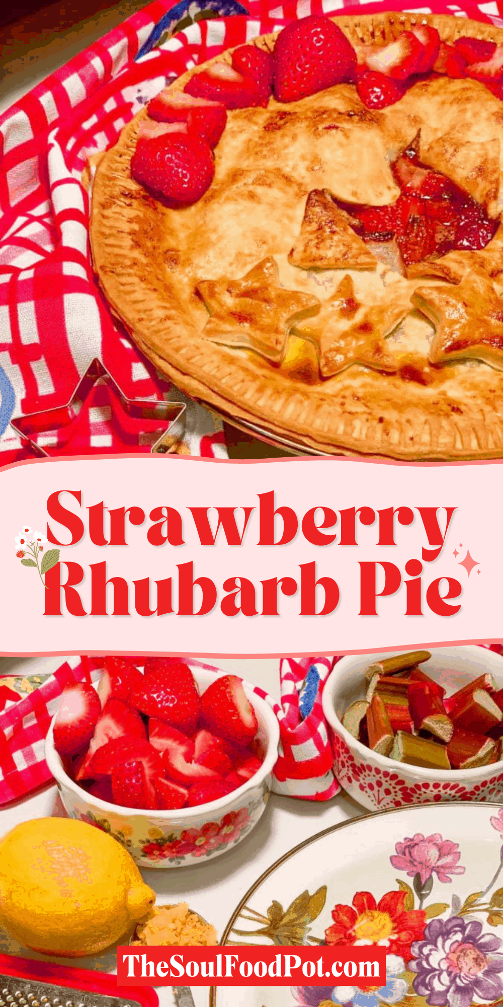 Easy Strawberry Rhubarb Pie Recipe - Instant Pot Omni Plus Oven
