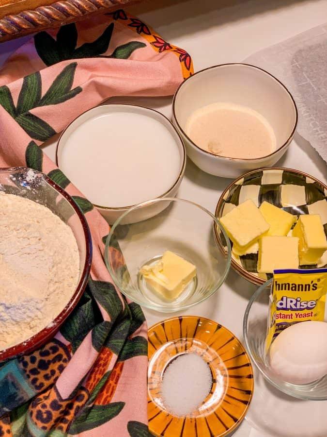 Jamaican Coco Bread Ingredients