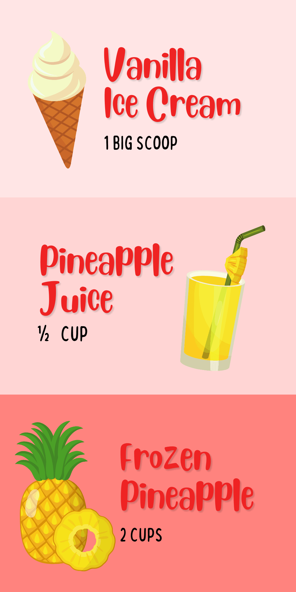 How To Make Pineapple Dole Whip Ingredients