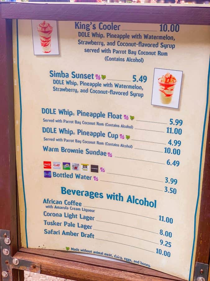 How much is a Dole Whip at Disney World?