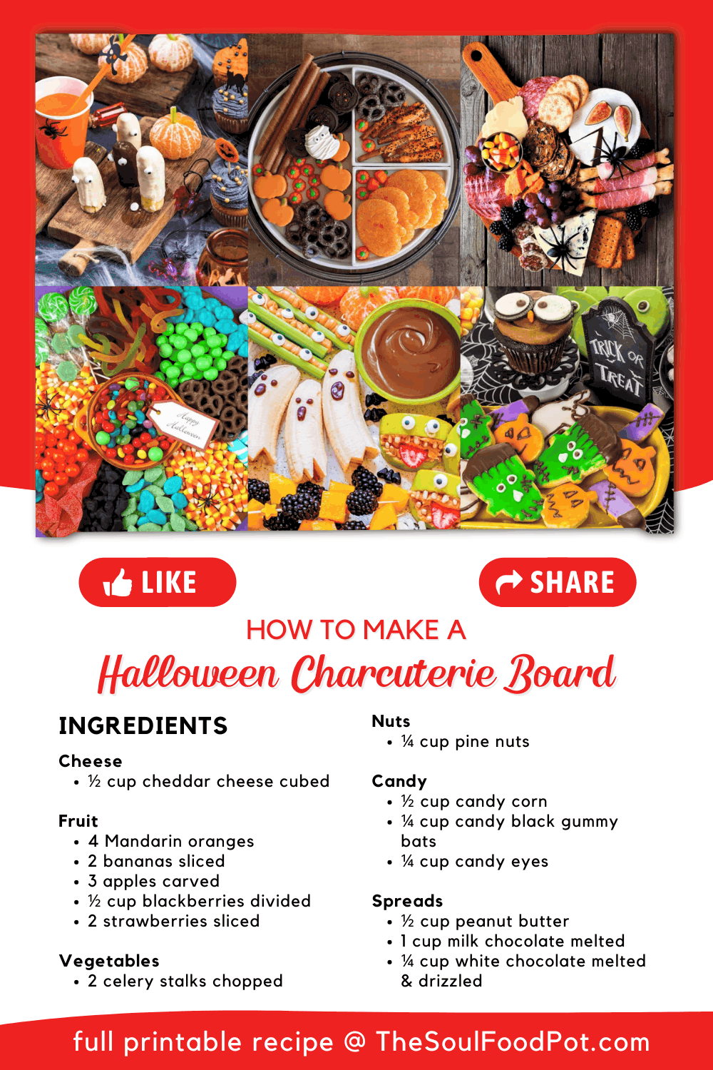 How To Make A Halloween Charcuterie Board Instructions